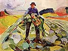 Man in Cabbage Field